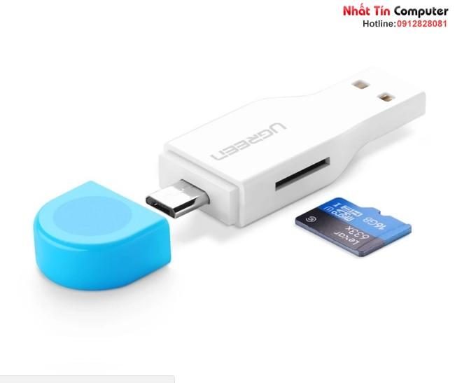 Đầu OTG tích hợp đọc thẻ nhớ Micro USB OTG Card Reader Ugreen 30358 6