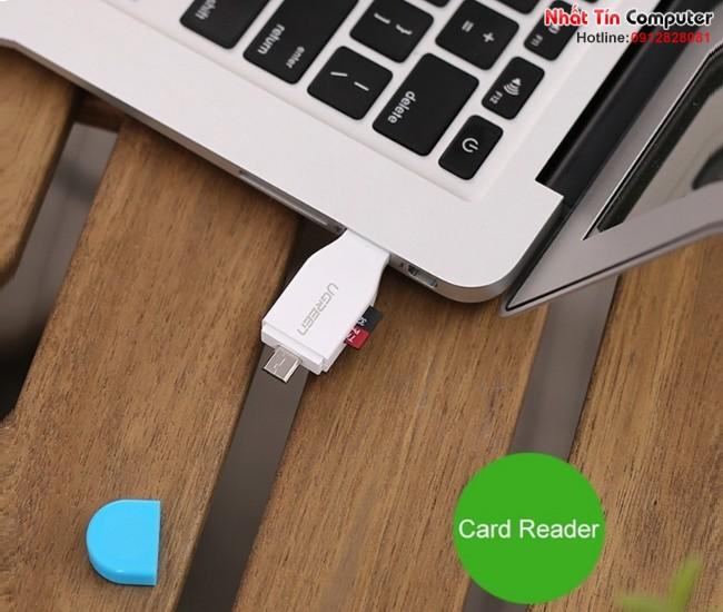 Đầu OTG tích hợp đọc thẻ nhớ Micro USB OTG Card Reader Ugreen 30358 7
