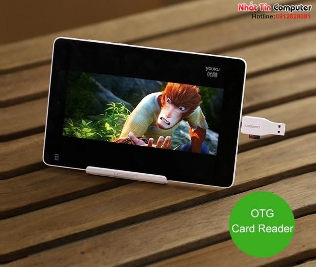 Đầu OTG tích hợp đọc thẻ nhớ Micro USB OTG Card Reader Ugreen 30358 8