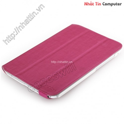 wholesale ROCK Flexible Series With Stand Leather Case for Samsung Galaxy 8.0 N5100 - Rose