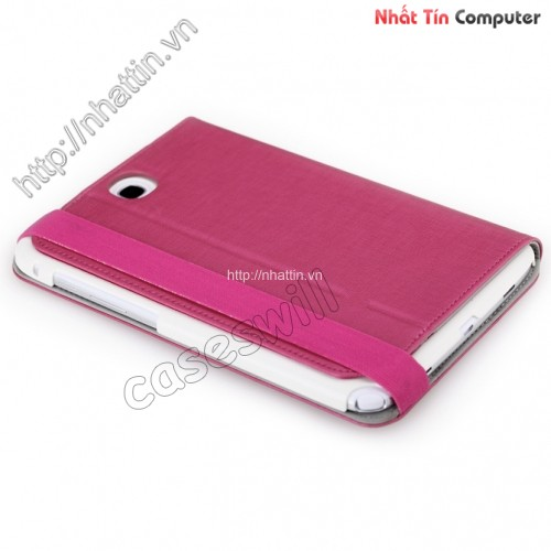 discount ROCK Flexible Series With Stand Leather Case for Samsung Galaxy 8.0 N5100 - Rose