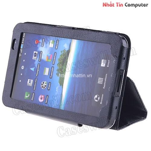 samsung galaxy x cover,wholesale Black Leather Case Cover Stand for Samsung Galaxy Tab P1000