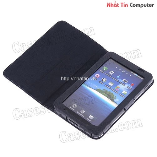 samsung xcover case,discount Black Leather Case Cover Stand for Samsung Galaxy Tab P1000