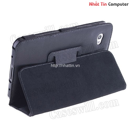 case p1000,top quality Black Leather Case Cover Stand for Samsung Galaxy Tab P1000