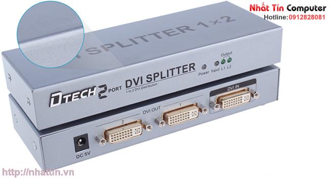 Bộ chia cổng DVI 1 ra 2 chính hãng Dtech DT-7032