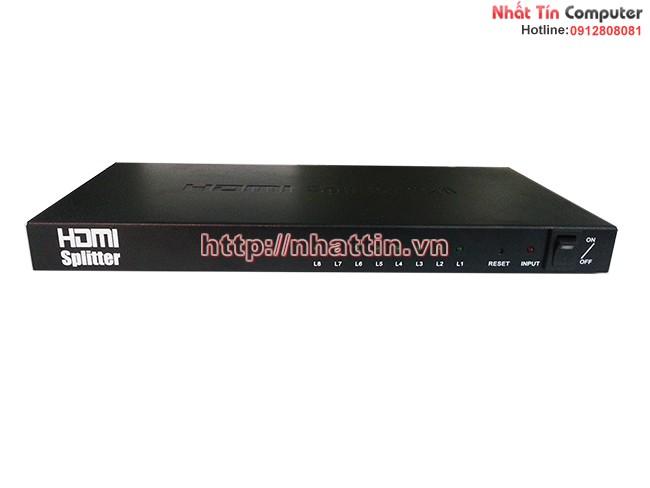 Bộ chia HDMI 1 ra 8 chuẩn 1.4 hỗ trợ 4K x 2K, HDCP, 3D Cao Cấp nhattin.vn