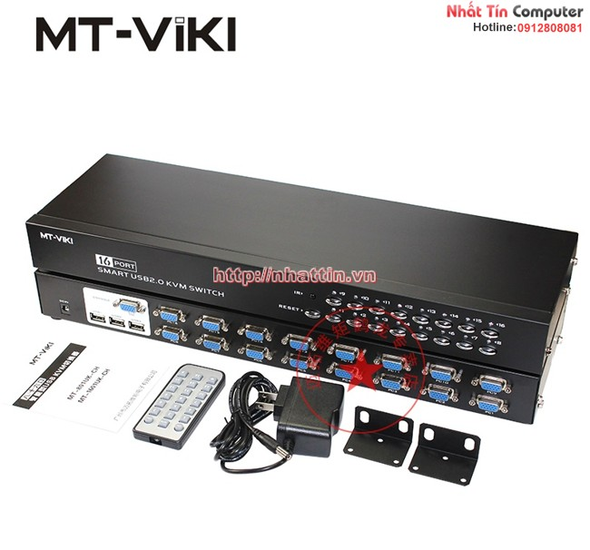 KVM switch 16 port chính hãng MT-VIKI MT-1601UK-CH