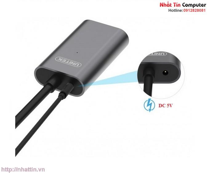 Cáp nối dài USB 2.0 dài 30M chính hãng Unitek Y-C275 cao cấp