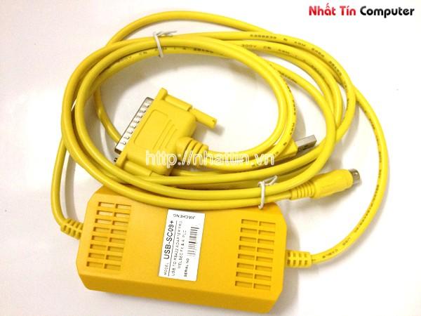 Cáp lập trình Mitsubishi PLC USB-SC09+ - Cáp USB to RS422