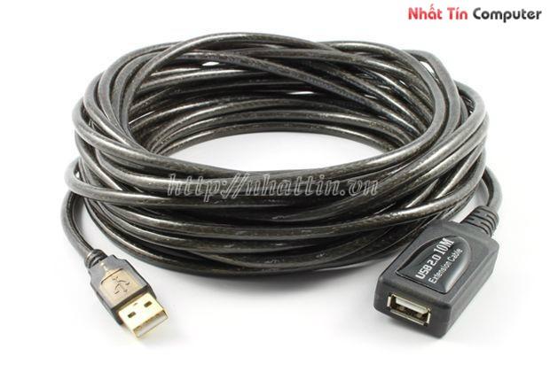 Bán cáp usb 10m chống nhiễu giá rẻ,Cáp nối dài USB 10m 2.0 chính hãng