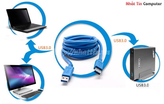 bán cáp usb Dtech chuẩn 3.0 chính hãng,Cáp USB to USB Dtech 1.8m chuẩn 3.0 giá rẻ
