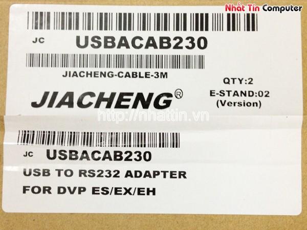 Cáp lập trình Delta PLC USB ACAB230 - Dây cáp chuyển USB to RS232