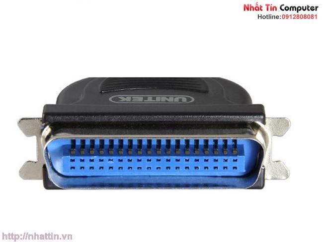 Cáp máy in USB ra LPT IEEE 1284 dài 3m chính hãng Unitek Y-1020B