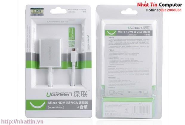 Cáp micro HDMI to VGA cao cấp Ugreen 40222