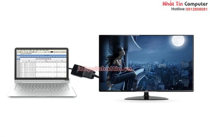 Cáp chuyển đổi USB 3.0 sang VGA hàng chính hãng Cabos