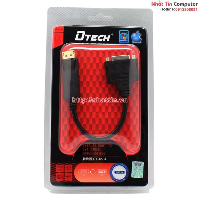 Cổng chuyển đổi Displayport to DVI chính hãng DTech DT-6504