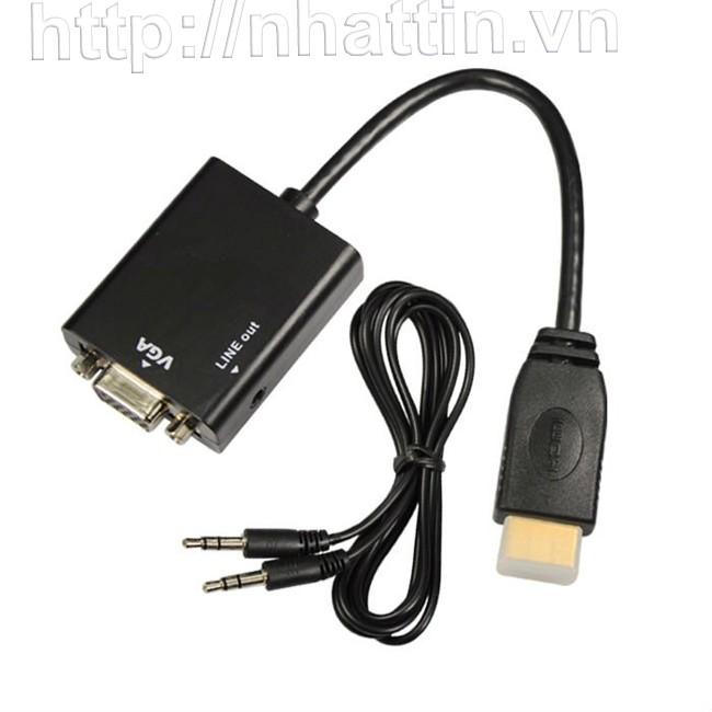 Cáp chuyển HDMI sang VGA Adapter xuất ra cả âm thanh Audio
