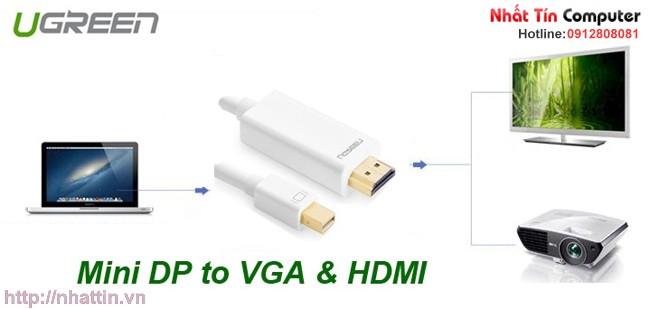 Cáp chuyển đổi mini DisplayPort to HDMI cho Macbook, Macbook Pro chính hãng Ugreen MD101