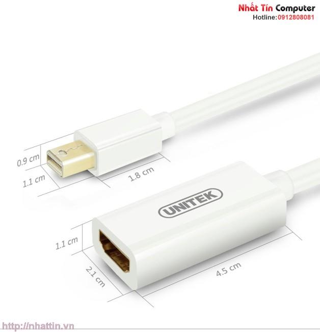 Cáp chuyển đổi Mini Displayport to HDMI Unitek Y-6346 Chính hãng