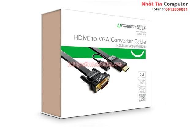 Cáp chuyển đổi HDMI to VGA cao cấp chính hãng Ugreen MM101