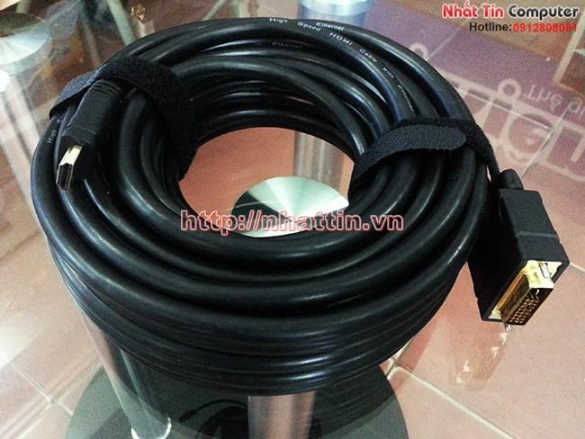 Bán cáp chuyển đổi HDMI to DVI 24+1 - 12m Unitek Y-C223 chính hãng