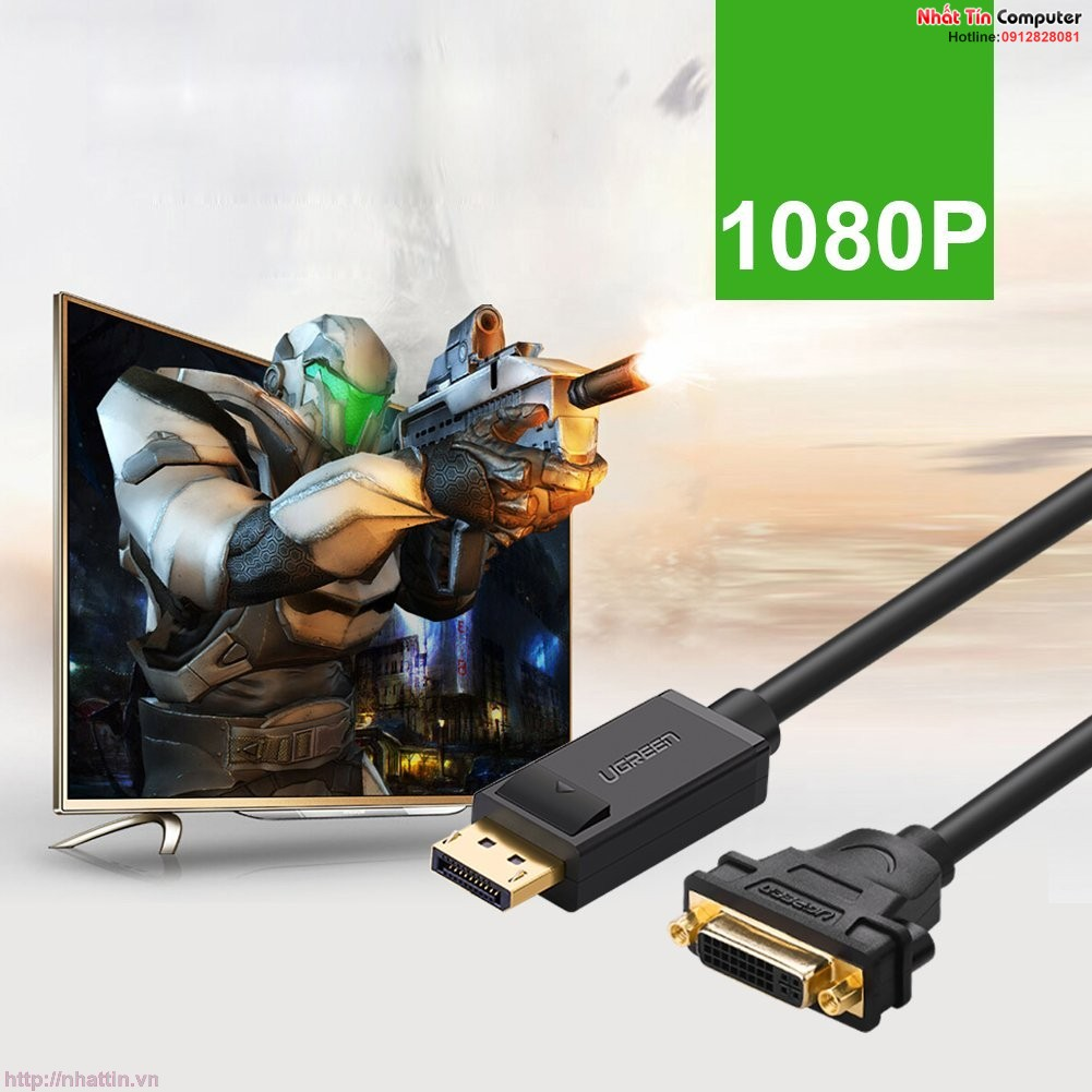 cap-chuyen-doi-displayport-to-dvi-am-chinh-hang-ugreen-ug-20405
