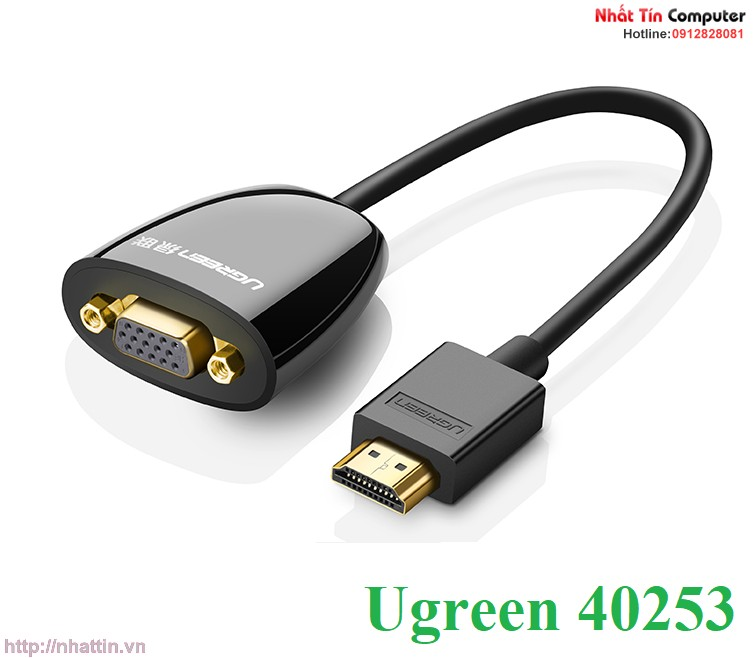 cap-chuyen-doi-hdmi-to-vga-khong-audio-chinh-hang-ugreen-40253