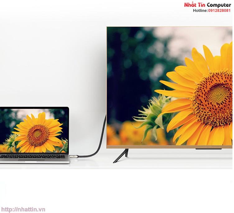 cap-displayport-to-hdmi-2-0-dai-1-5m-ho-tro-3d-4k-60hz-chinh-hang-ugreen-40433