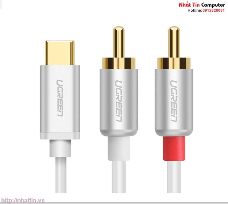 cap-chuyen-doi-usb-type-c-to-2-cong-audio-3-5mm-ugreen-30733