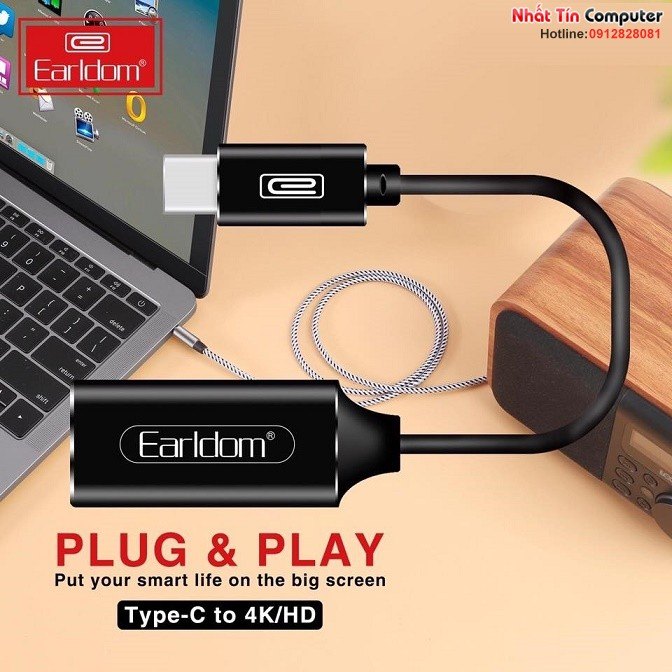 cap-chuyen-doi-usb-type-c-to-hdmi-ho-tro-4k@30hz-earldom-et-w11