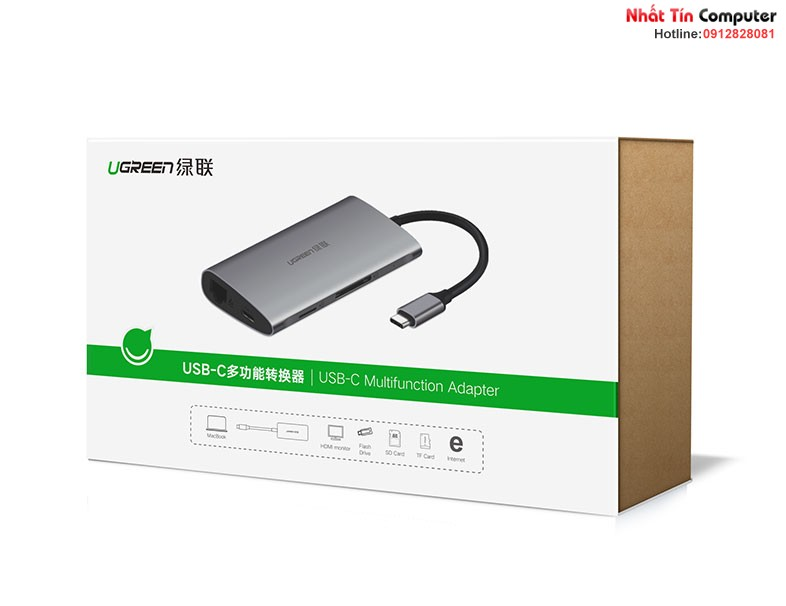 thiet-bi-mo-rong-usb-type-c-to-hdmi-hub-usb-3-0-sd-tf-lan-gigabit-chinh-hang-ugreen-50538