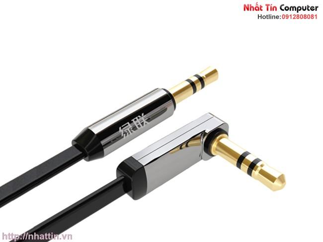 Cáp Audio 3.5mm 0.5M đầu bẻ góc 90 độ Ugreen