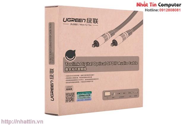 Cáp audio quang (Toslink, Optical) 1m Chính hãng Ugreen UG-10539 vỏ nhôm