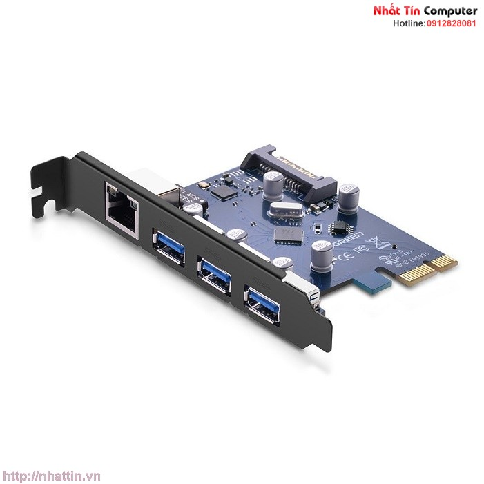 card-pci-express-sang-3-cong-usb-3-0-lan-gigabit-10-100-1000mbps-chinh-hang-ugreen-ug-30775