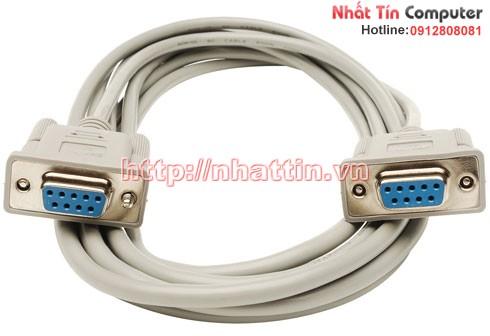 Cáp nối cổng Com to Com D-SUB 9 Pin 5M ( Cáp RS232 ) 9 chân âm/9 chân âm