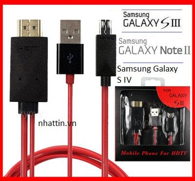 Cáp micro usb to hdmi (MHL) cho điện thoại Samsung Galaxy S4 I9500
