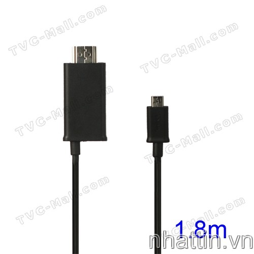 1.8M Micro USB to HDMI Smartphone HDTV MHL Adapter Cable for Samsung Galaxy S II / LTE / Nexus / Note, HTC One X / XL / EVO 3D / Flyer / Sensation / Amaze 4G