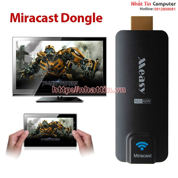 HDMI không dây Measy Dongle A2W Chromecast + Miracast + DLNA + Air Play