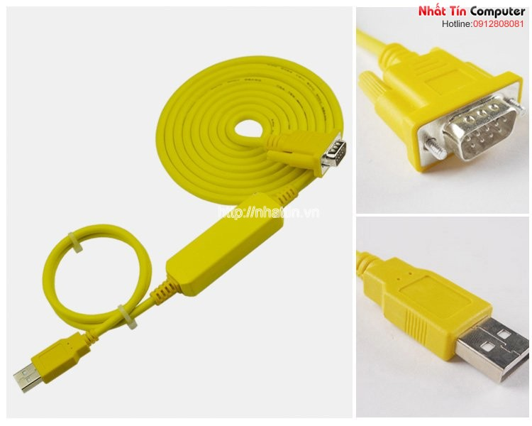 Cáp lập trình Siemens PLC USB-PPI USB to RS485 cho Siemens S7-200 dài 3M