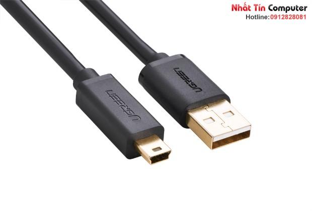 Cáp USB 2.0 to USB Mini 1m mạ vàng Chính hãng Ugreen 10355