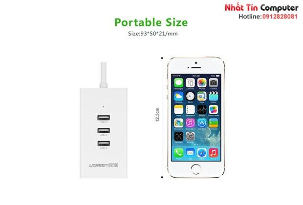 Bộ chia USB 3 cổng 2.0 kèm cổng Mạng 10/100Mbps Ugreen 20259 Chính hãng