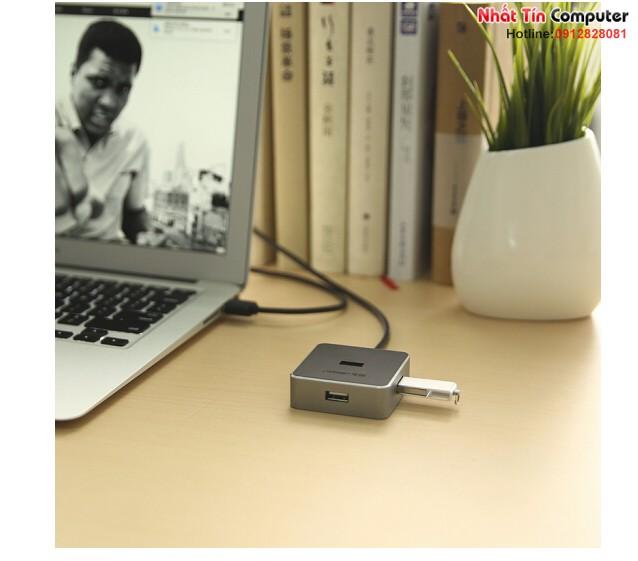 Bộ chia USB 2.0 ra 4 cổng dài 1M chính hãng Ugreen 30424 màu đen cao cấp
