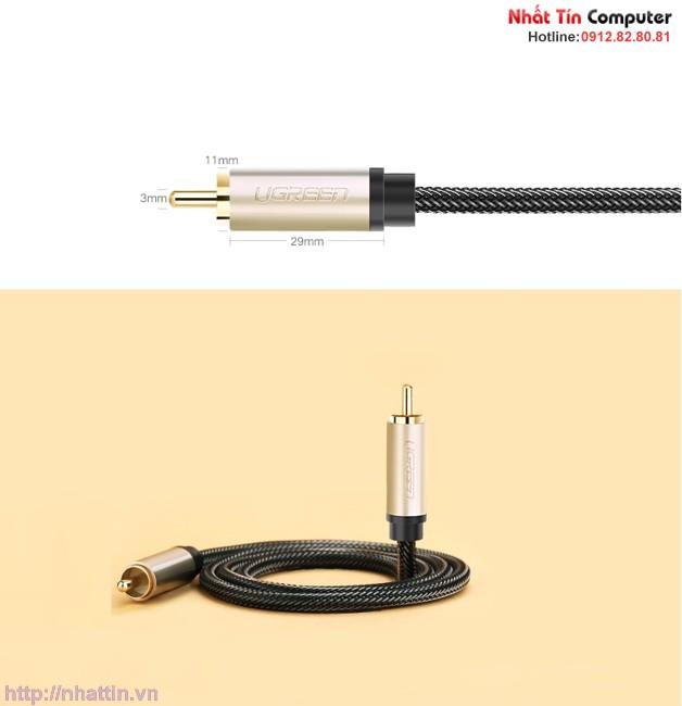 Cáp âm thanh số Coaxial 2m chính hãng Ugreen UG-20738 cao cấp