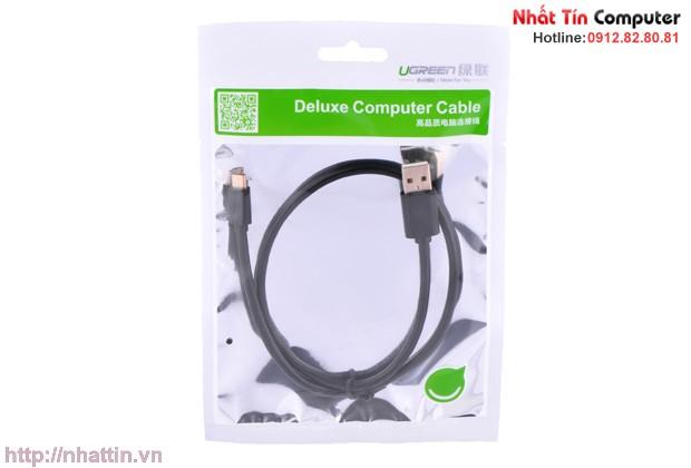 Cáp micro USB dài 2m chính hãng Ugreen 10838 cao cấp
