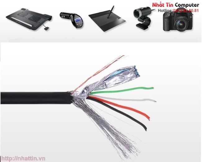 Cáp USB 2.0 chuẩn A 2 dầu dương M/M dài 3m Ugreen UG-30136 Chính hãng