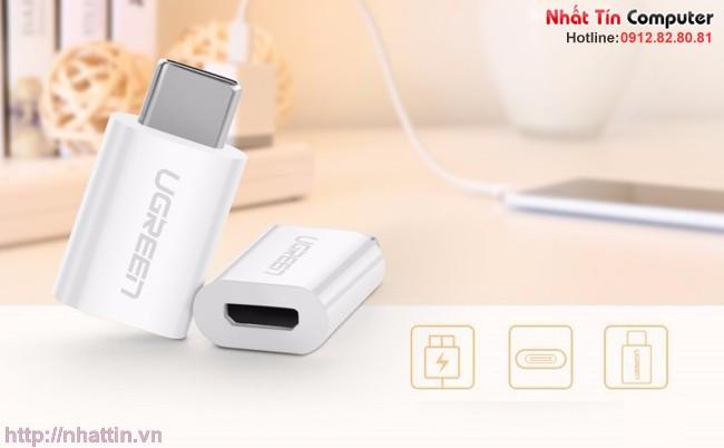 Đầu chuyển đổi Type-C sang Micro USB Ugreen 30154
