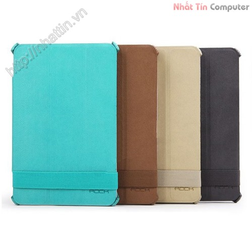 Original ROCK leather case,best price ROCK Texture Series Leather Case for iPad Mini - Coffee