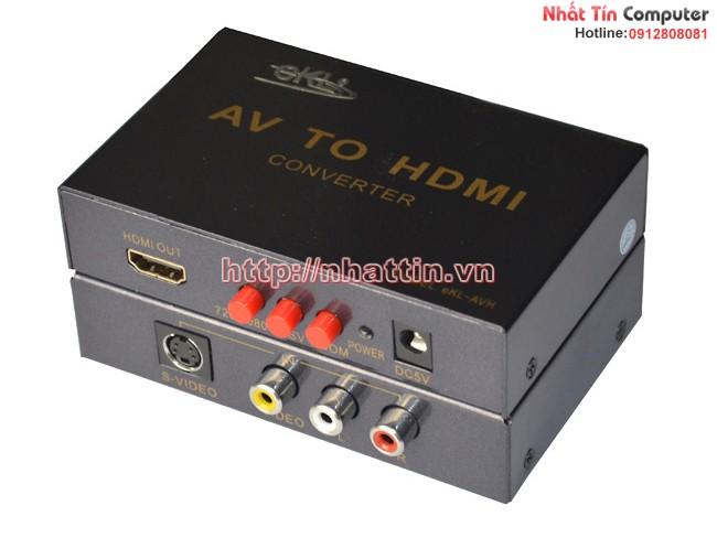 Bộ chuyển đổi tín hiệu SVideo + AV to HDMI EKL-AVH - chính hãng