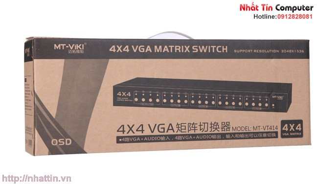 4 in 4 out VGA Matrix Switch