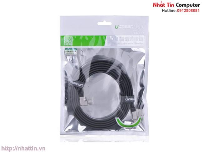 Cáp HDMI Ugreen 1m đầu bẻ góc 90 độ